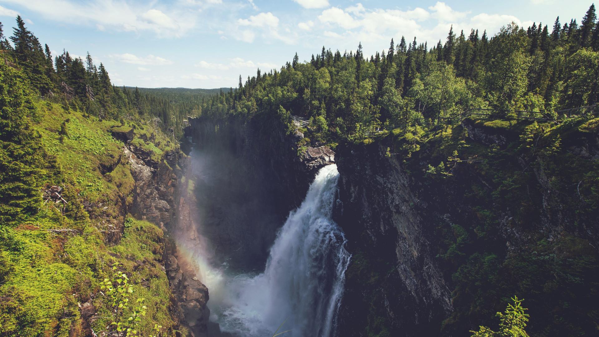 Download Wallpaper Super Waterfall 1920x1080