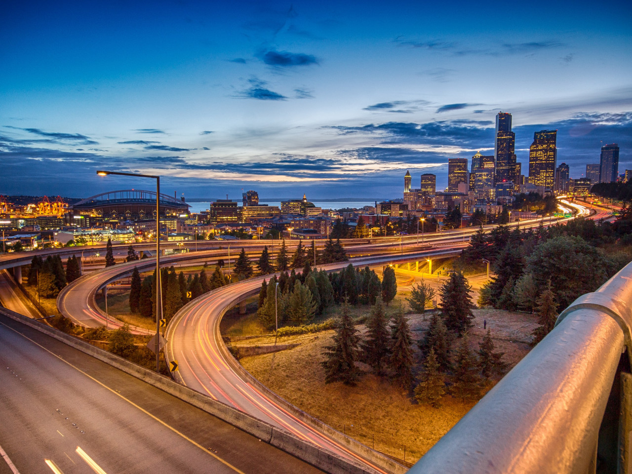 Seattle skyline wallpaper 1280x960