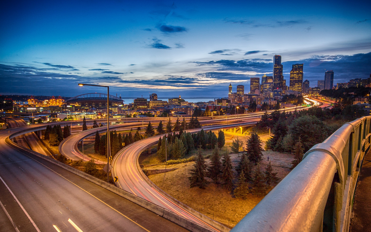 Seattle skyline wallpaper 1440x900