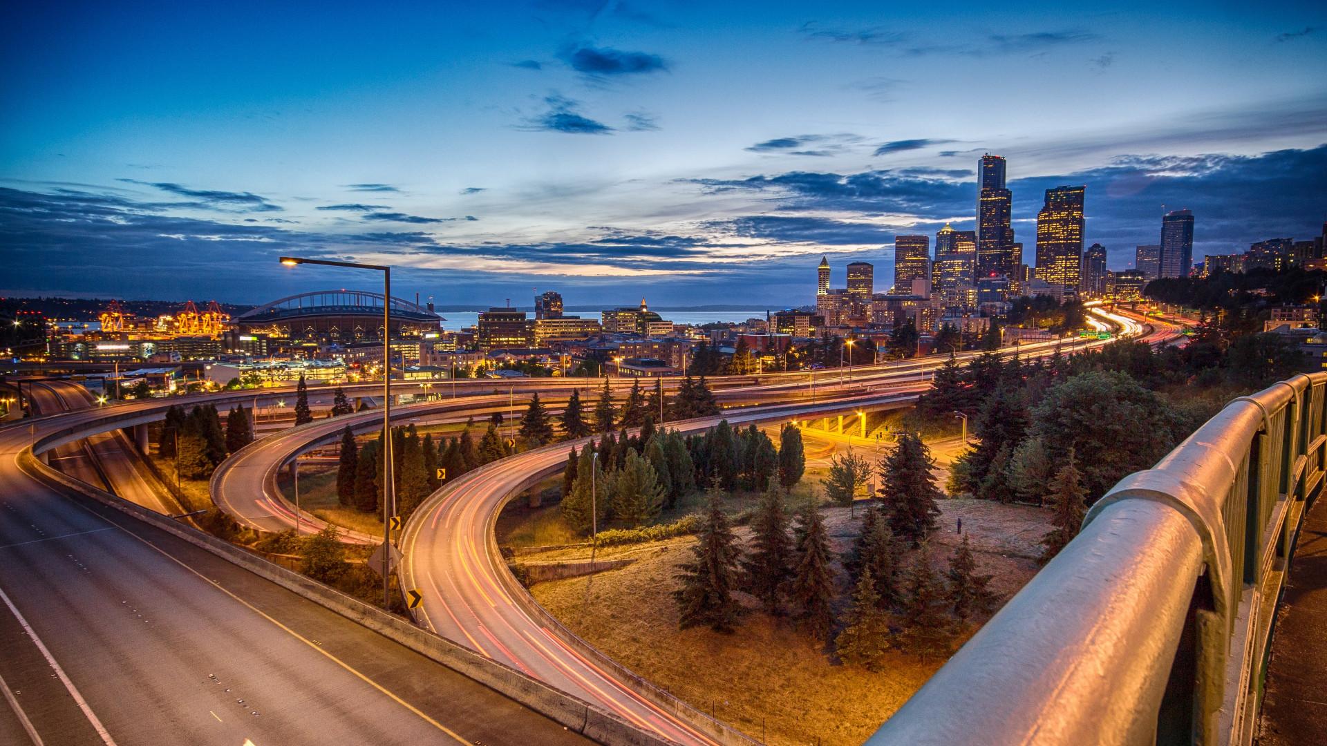Download Wallpaper Seattle Skyline 1920x1080
