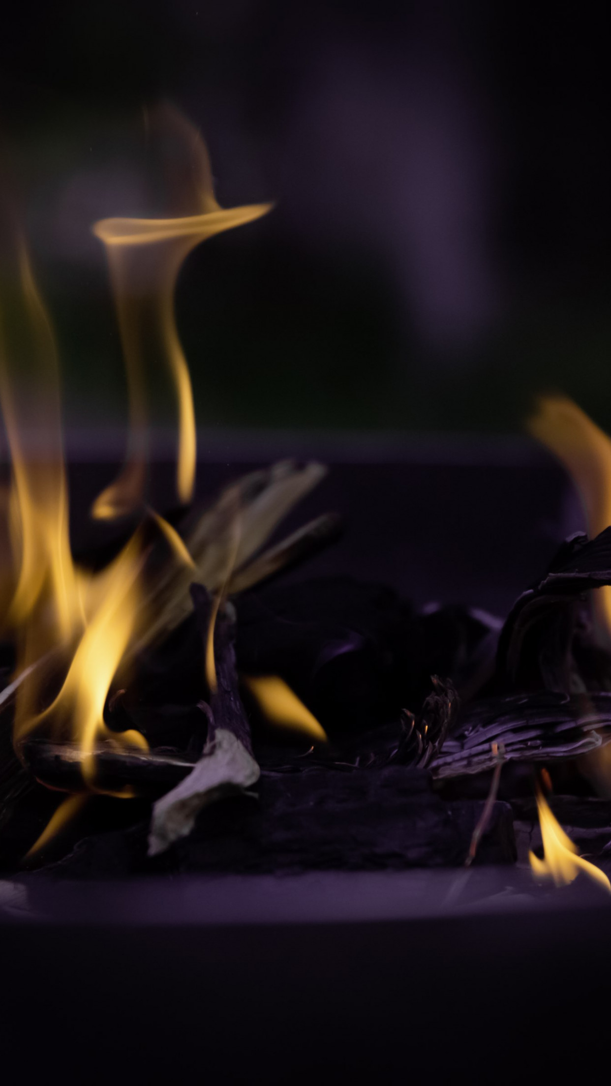 Fire, flames, hot wallpaper 1242x2208