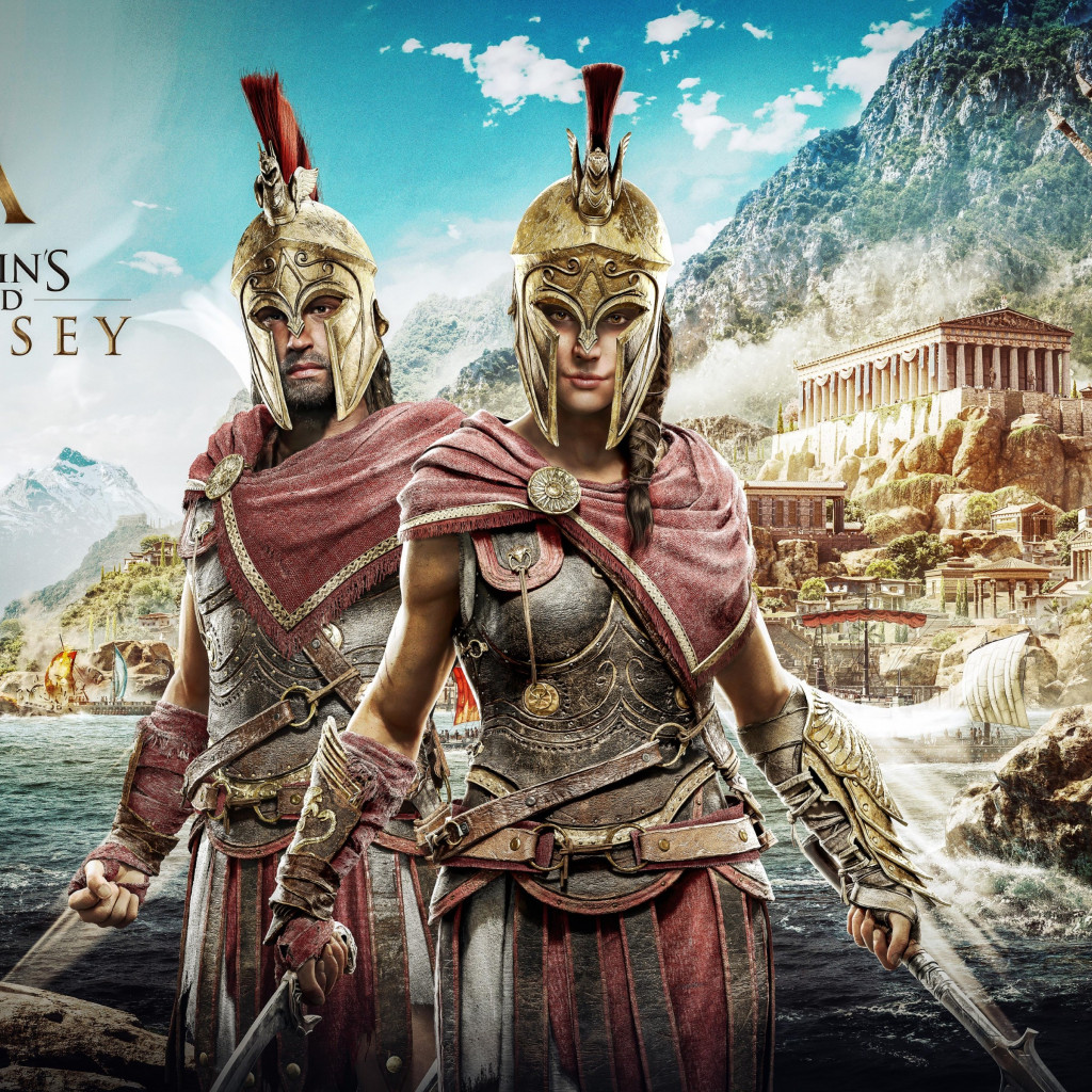 Assassin's Creed Odyssey poster wallpaper 1024x1024