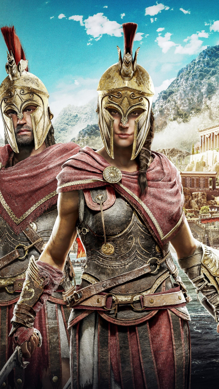 Download Wallpaper Assassin S Creed Odyssey Poster 750x1334