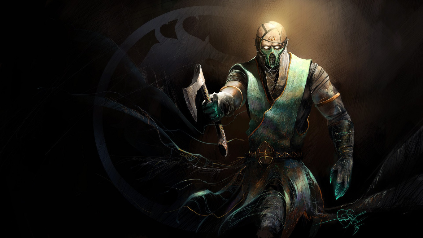 Chameleon from Mortal Kombat video game wallpaper 1366x768