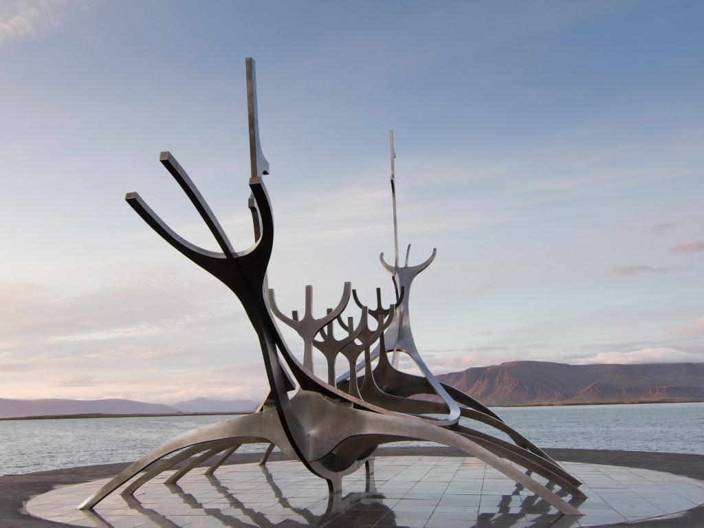 The Sun Voyager from Reykjavik, Iceland | 1024x768 wallpaper