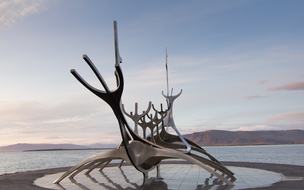 The Sun Voyager from Reykjavik, Iceland | 1280x800 wallpaper
