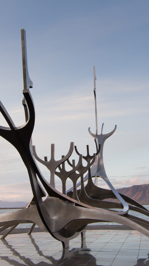 The Sun Voyager from Reykjavik, Iceland | 480x854 wallpaper