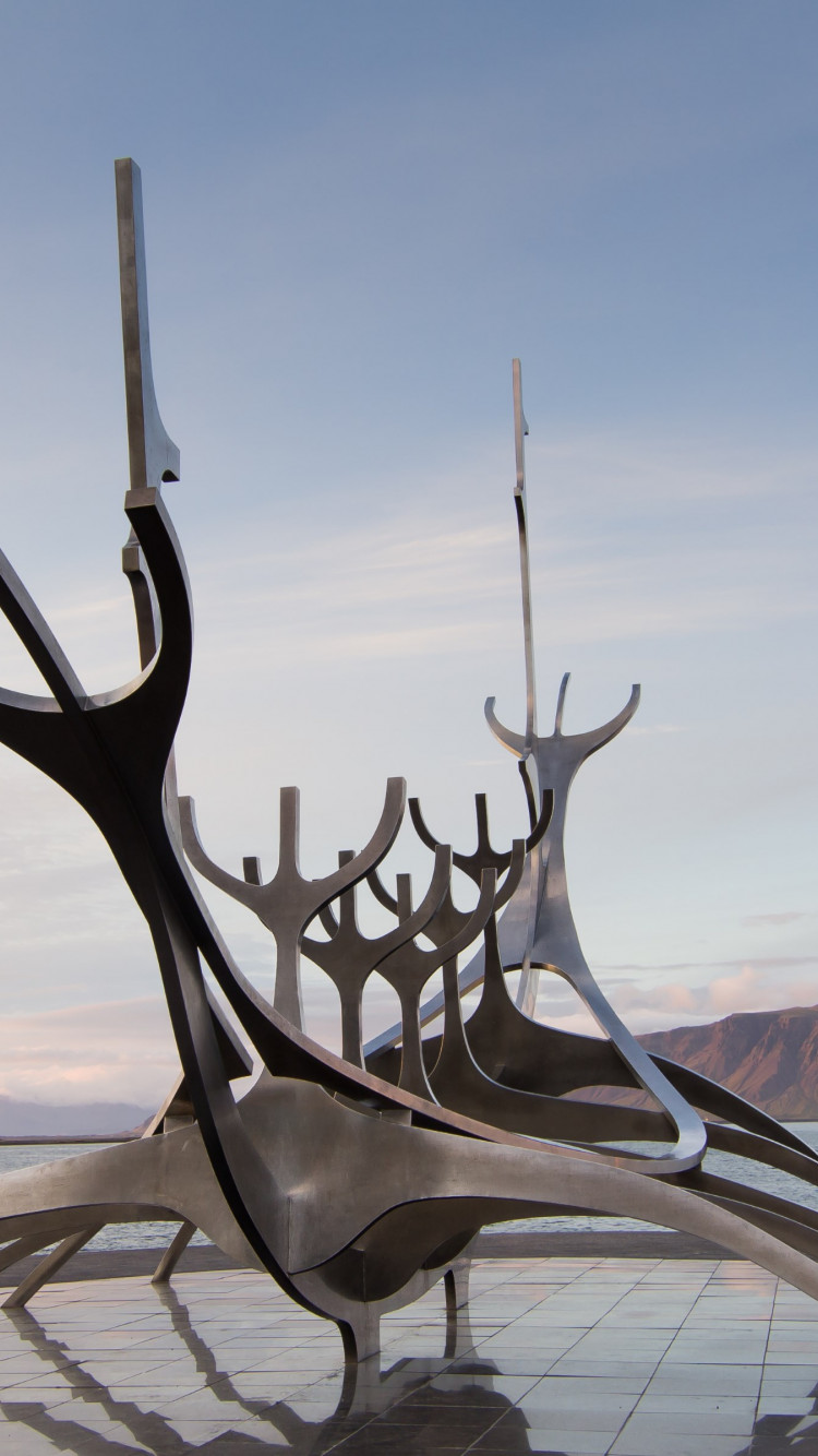 The Sun Voyager from Reykjavik, Iceland wallpaper 750x1334