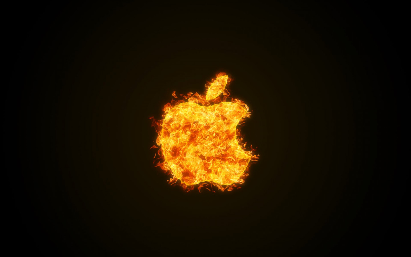 Apple fire wallpaper 1440x900