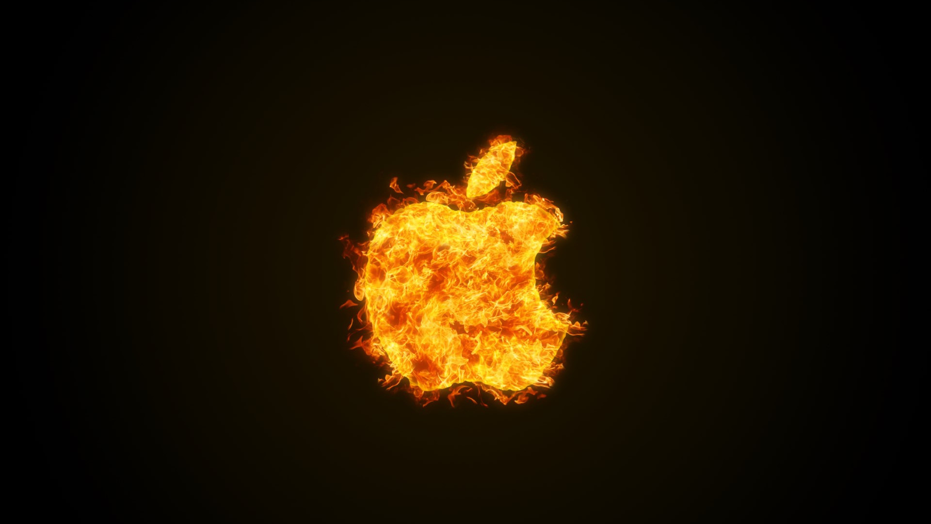 Apple fire wallpaper 1920x1080