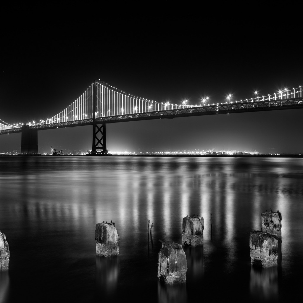 Bay bridge from San Francisco | 1024x1024 wallpaper