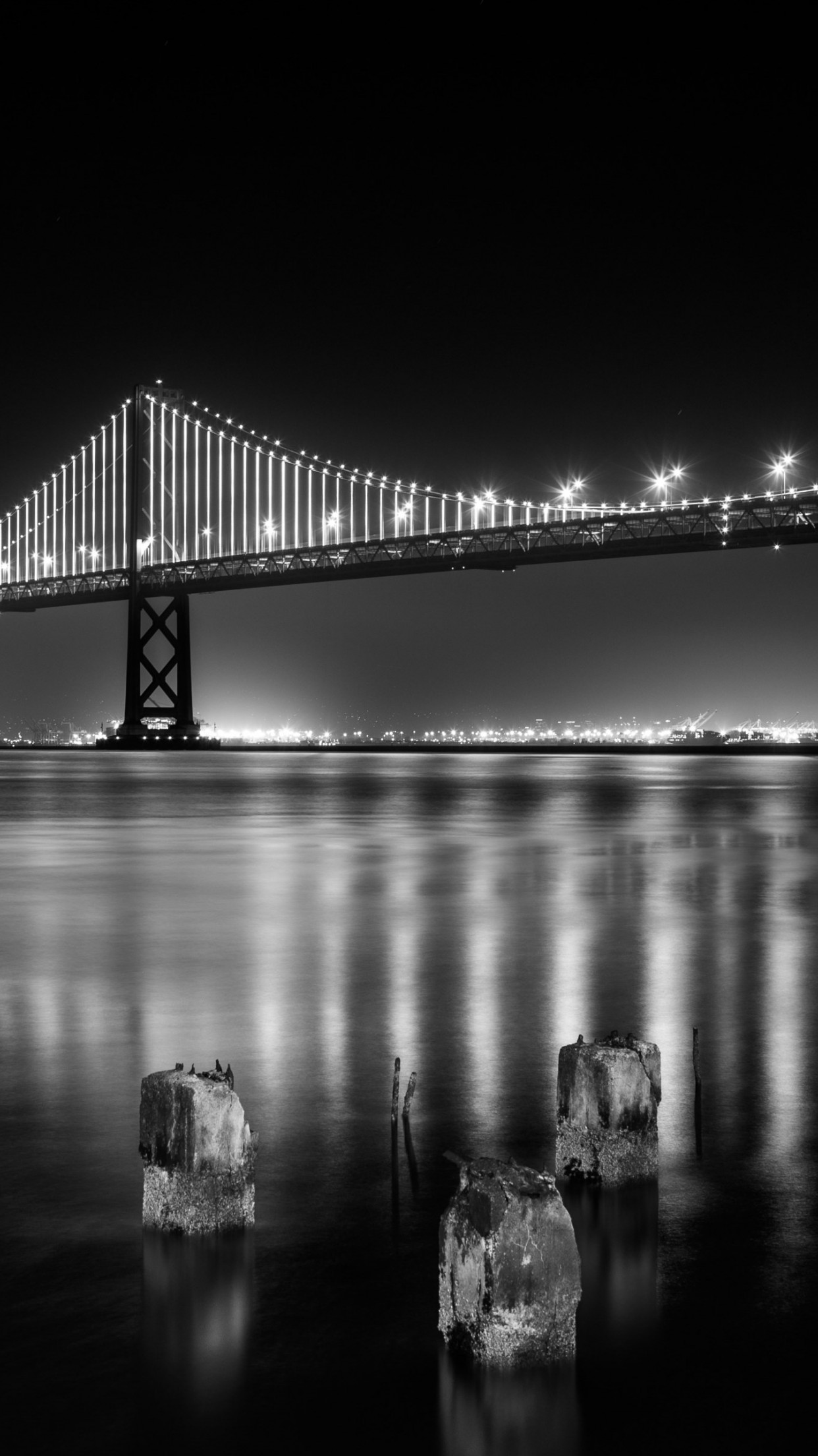 Bay bridge from San Francisco | 1242x2208 wallpaper