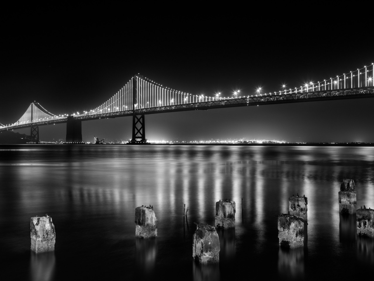 Bay bridge from San Francisco wallpaper 1280x960
