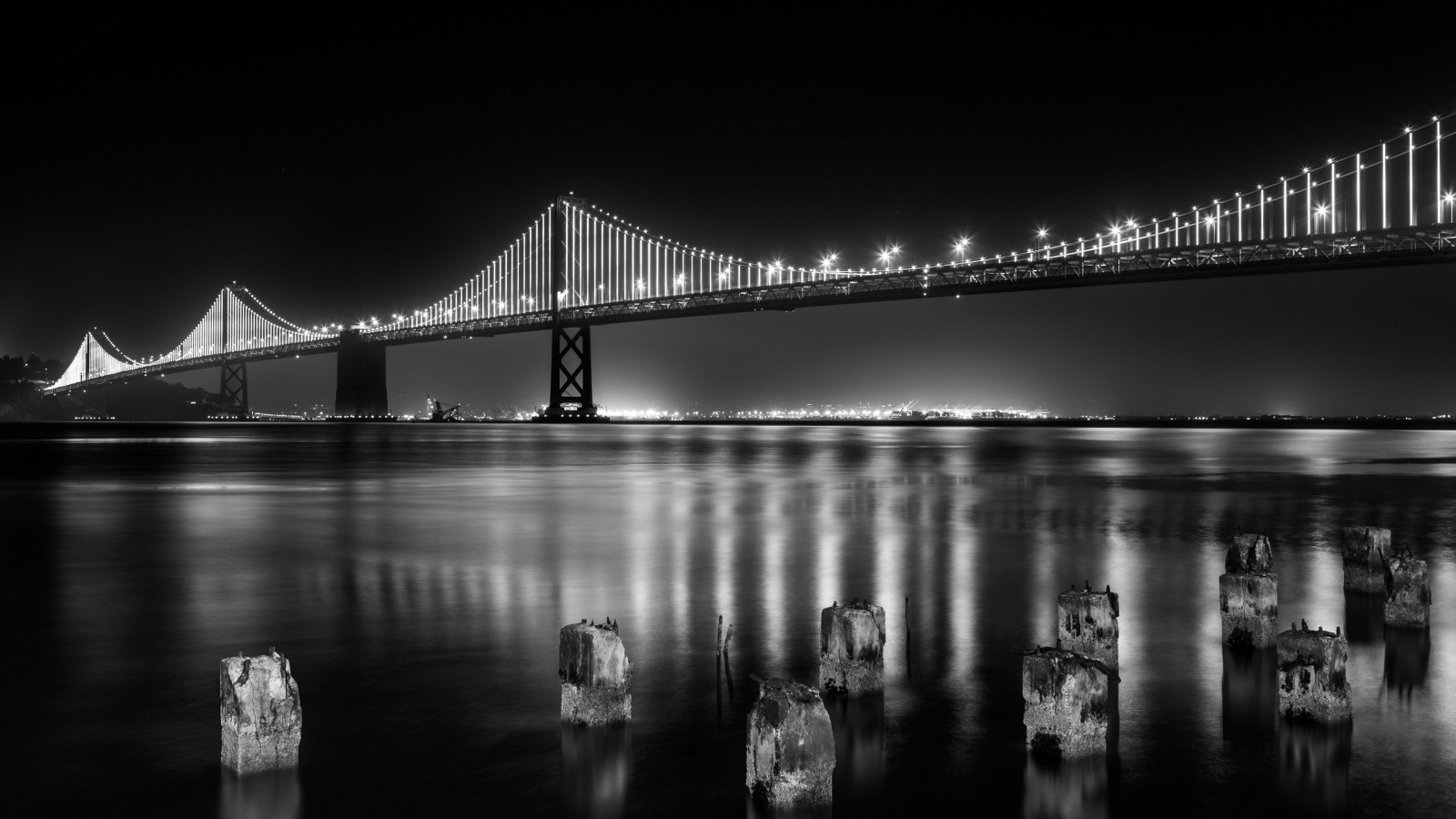 Bay bridge from San Francisco | 1600x900 wallpaper