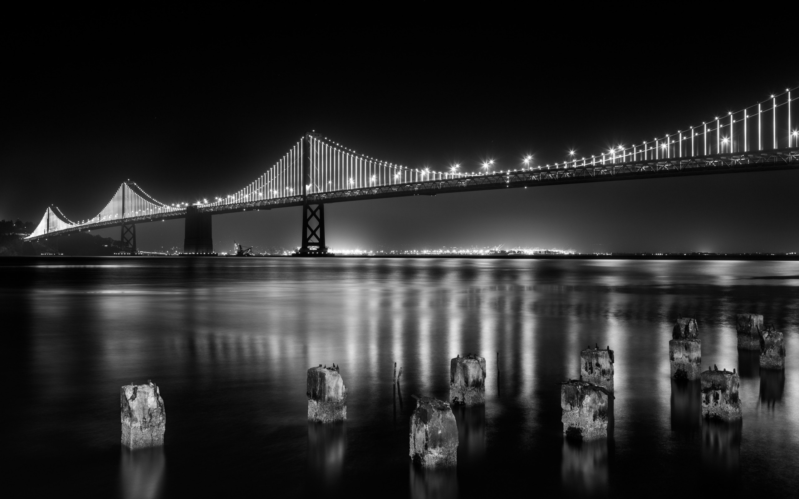 Bay bridge from San Francisco wallpaper 2560x1600