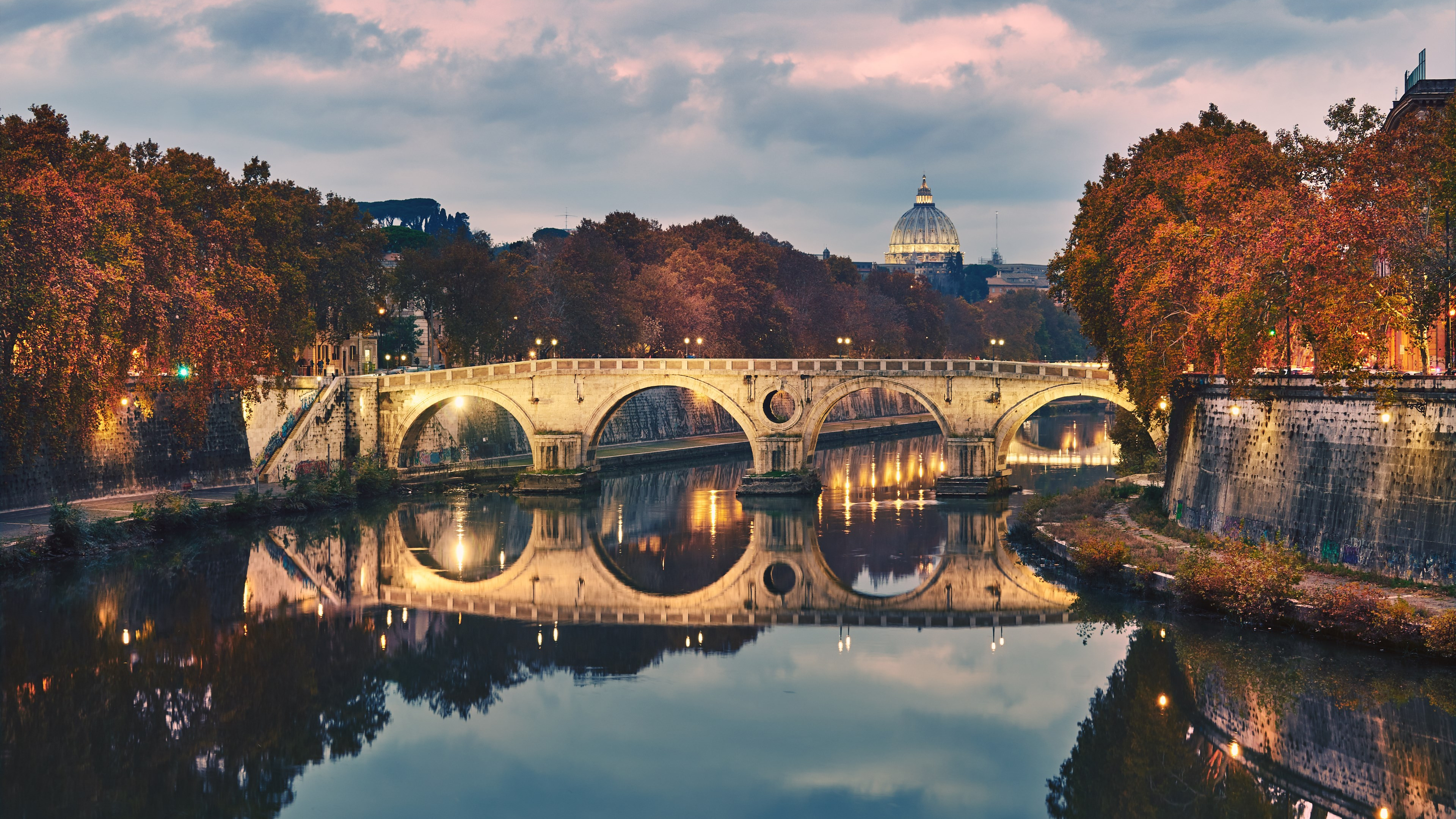 Ponte Sisto in Rome, Italy | 3840x2160 wallpaper