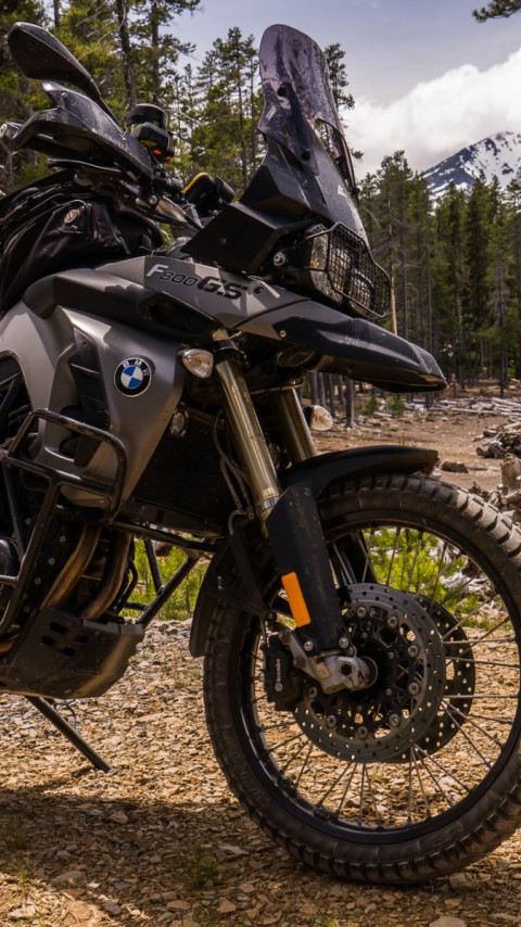 BMW F800GS motorcycle wallpaper 480x854
