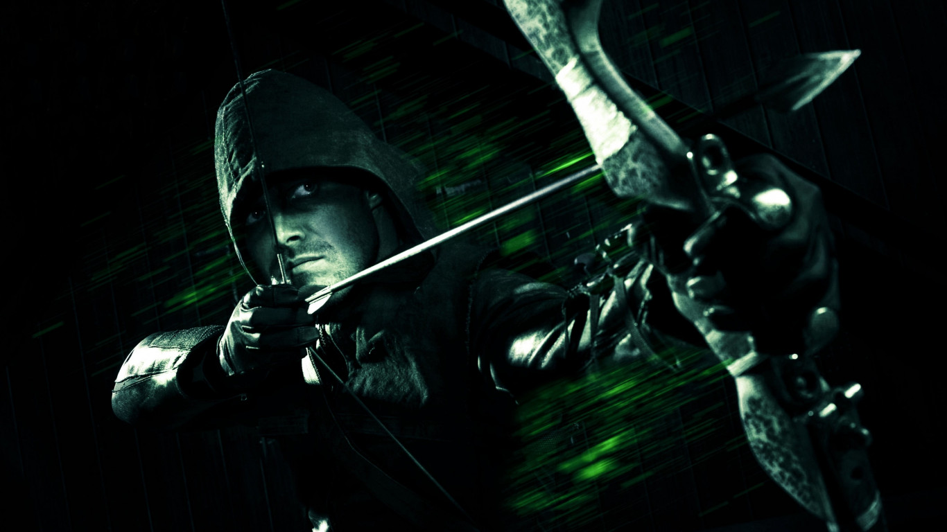 Green Arrow | 1366x768 wallpaper