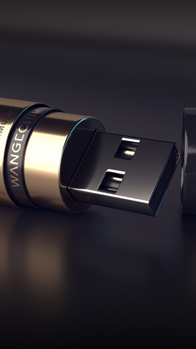 USB flash drive wallpaper 750x1334
