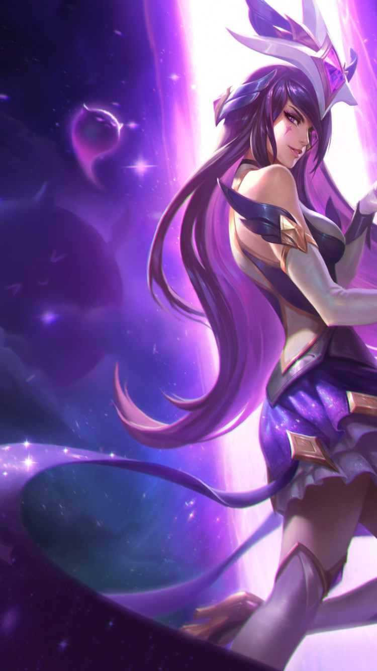 Syndra in League of Legends champion wallpaper 750x1334