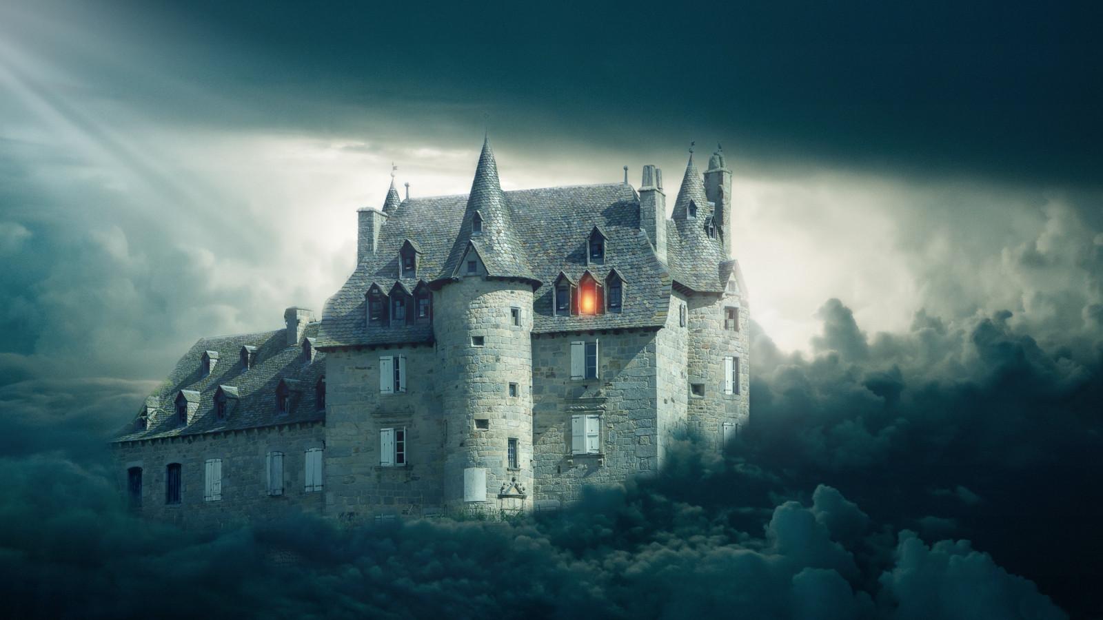 Download wallpaper: Gothic castle 1600x900