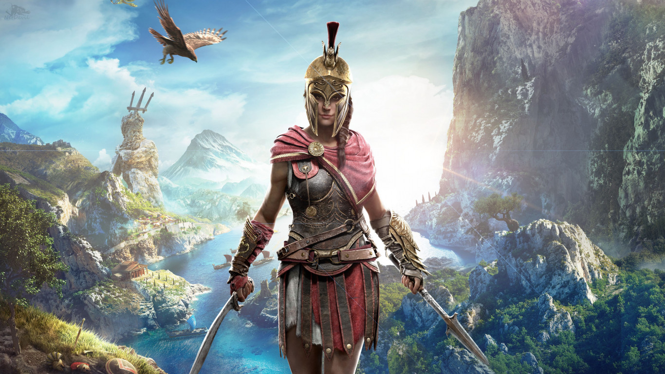 Kassandra in Assassin s Creed wallpaper 1366x768