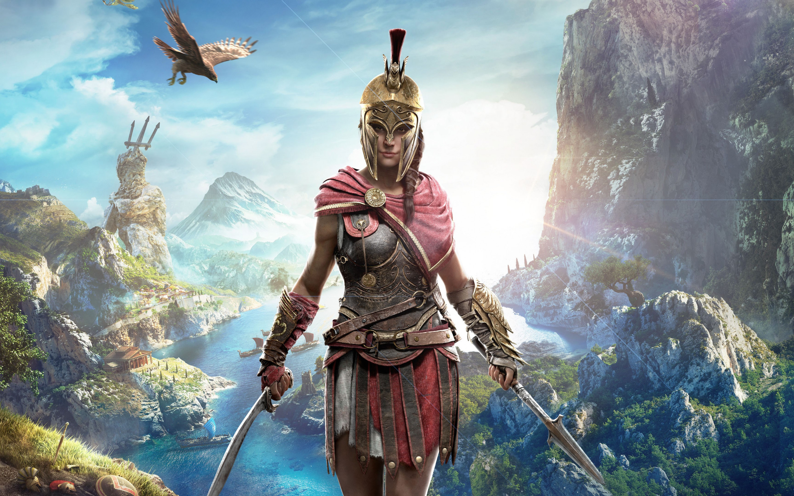 Kassandra in Assassin s Creed wallpaper 2560x1600