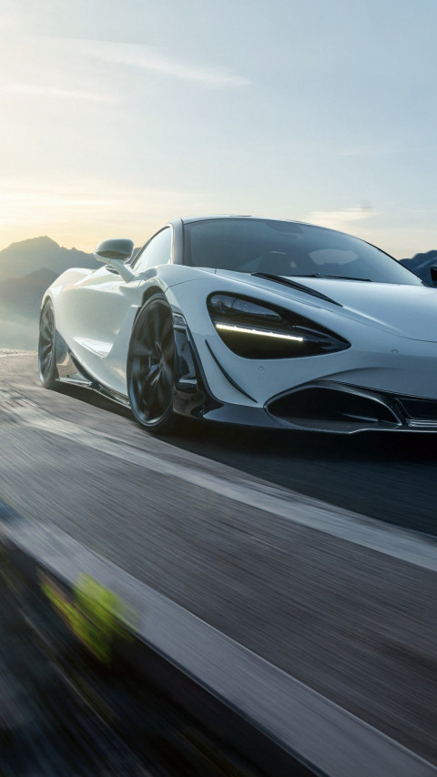 McLaren 720S in motion | 480x854 wallpaper