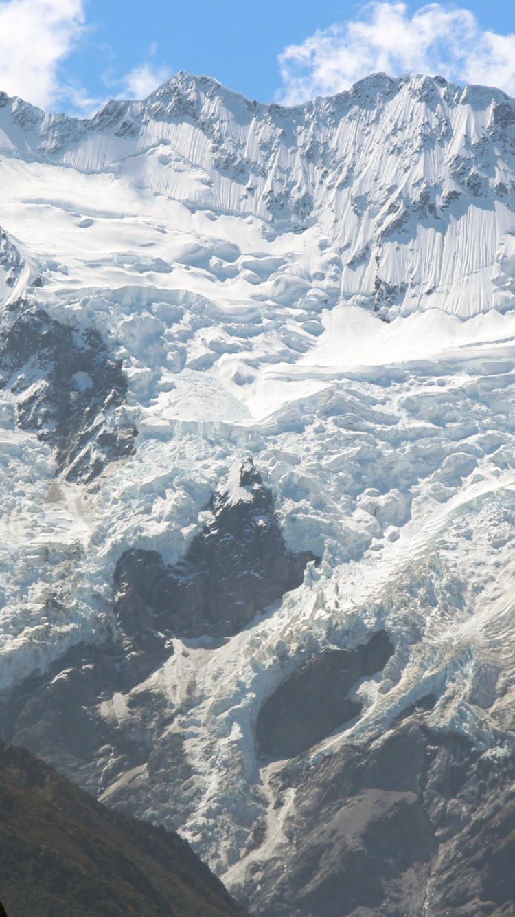 Hooker glacier from Aoraki, New Zealand | 750x1334 wallpaper