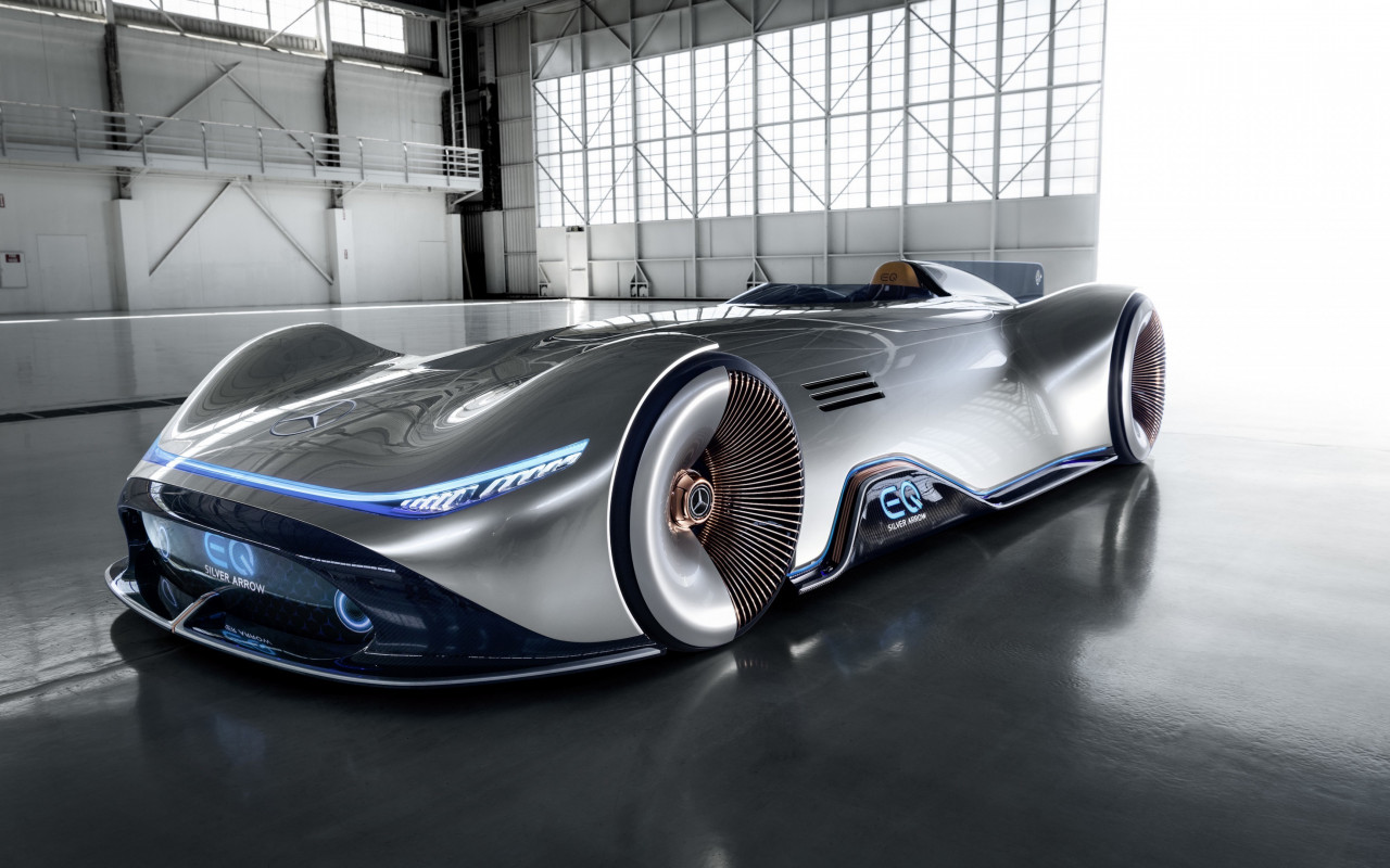 Mercedes Benz Vision EQ Silver Arrow | 1280x800 wallpaper