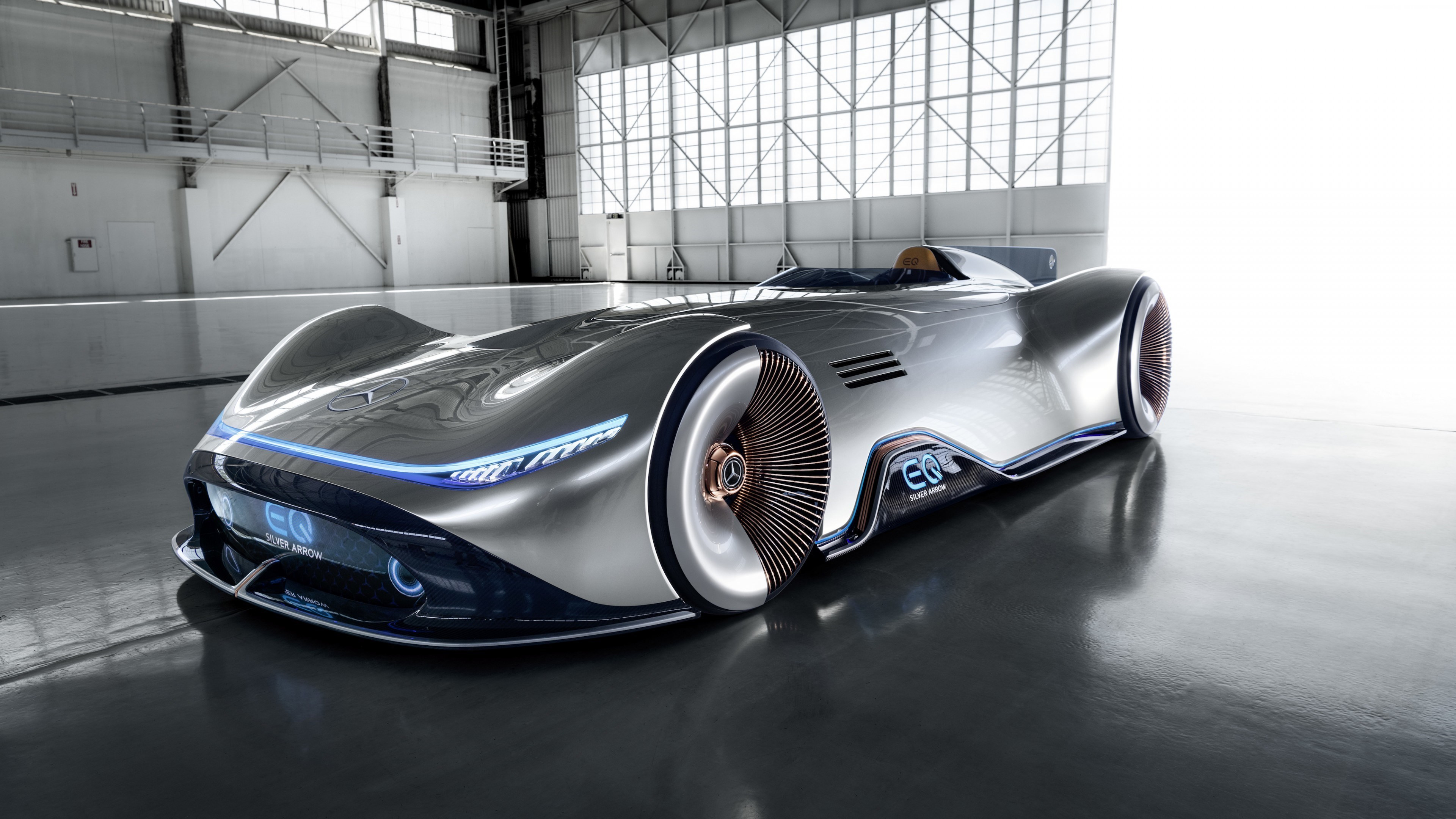 Mercedes Benz Vision EQ Silver Arrow | 3840x2160 wallpaper