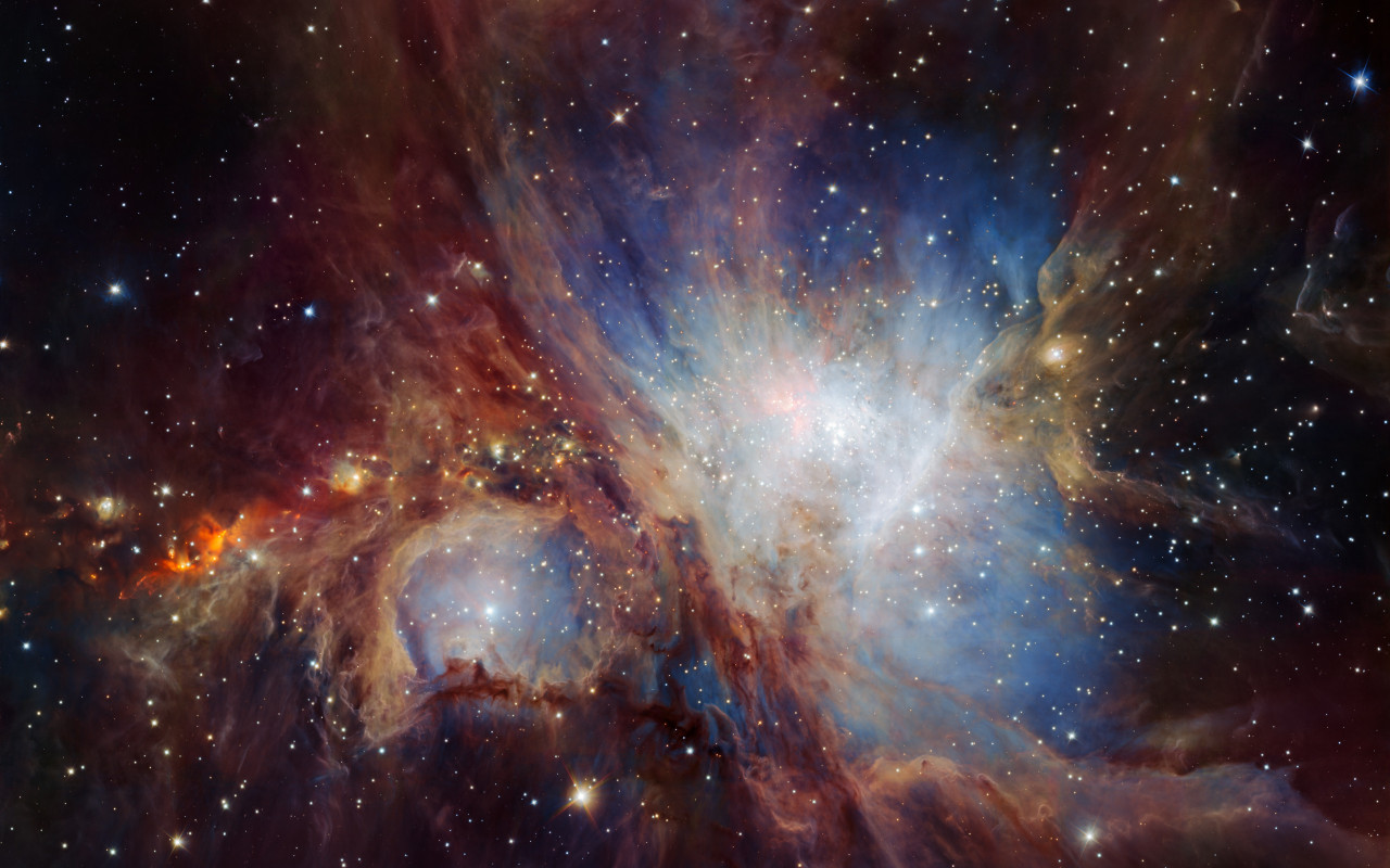 Infrared view of the Orion Nebula wallpaper 1280x800