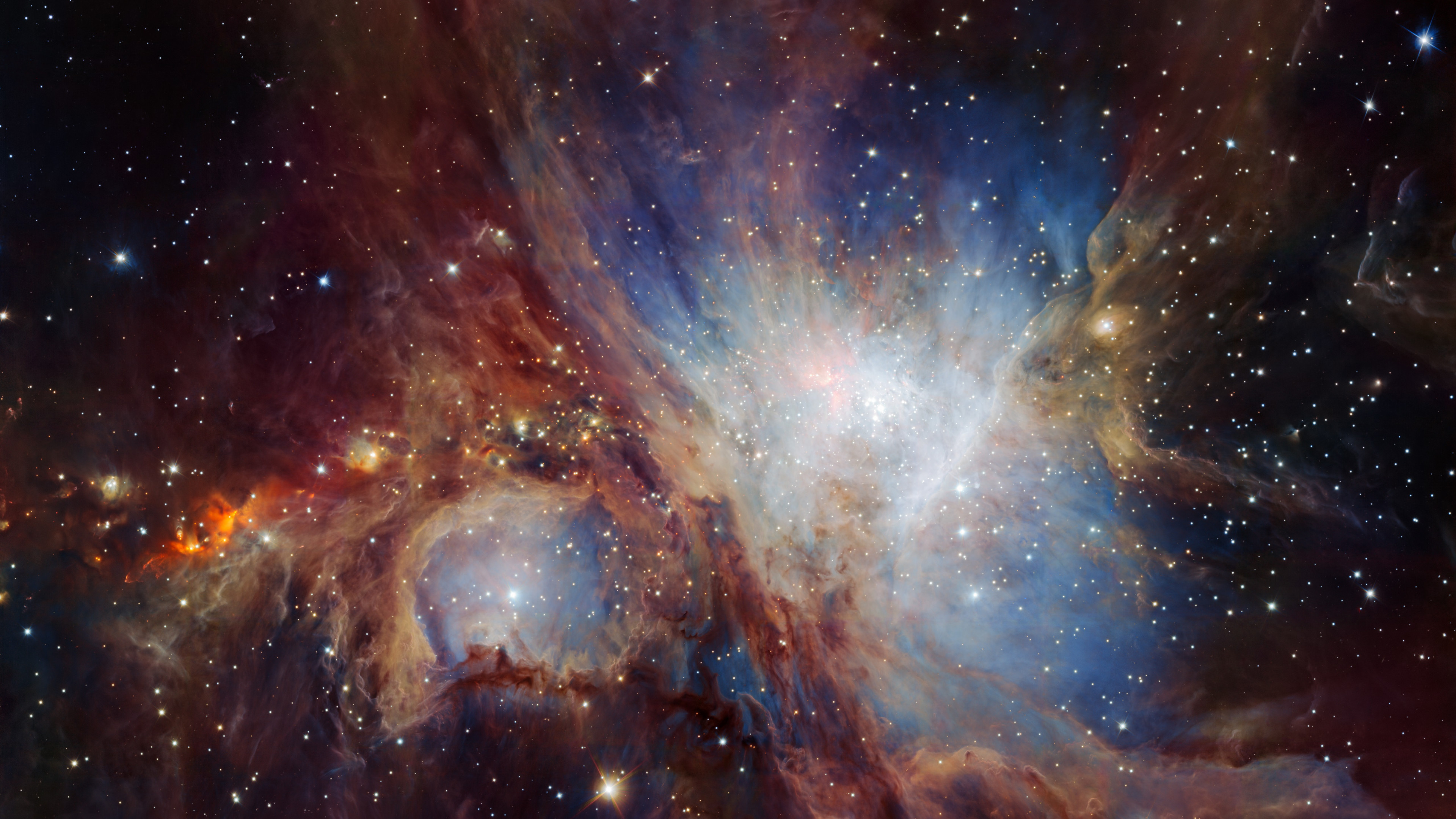 Infrared view of the Orion Nebula | 3840x2160 wallpaper
