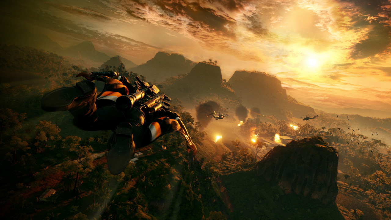 Just Cause 4 gameplay wallpaper 1280x720