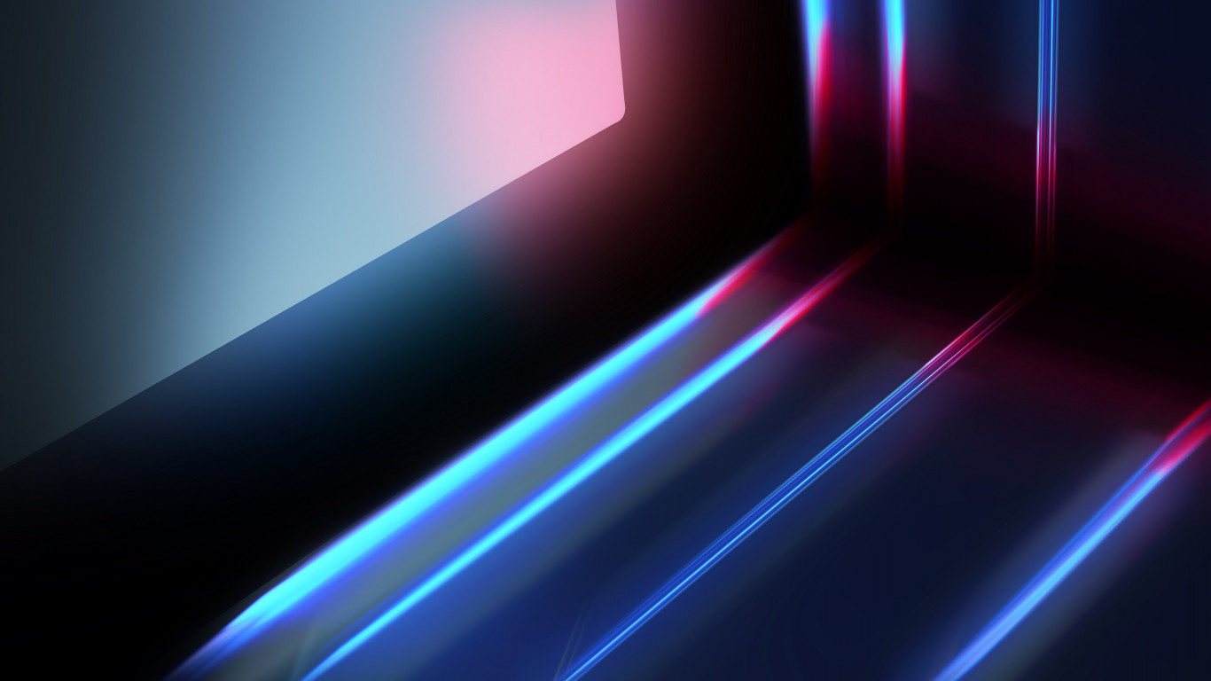 Abstract blue red lights wallpaper 1366x768