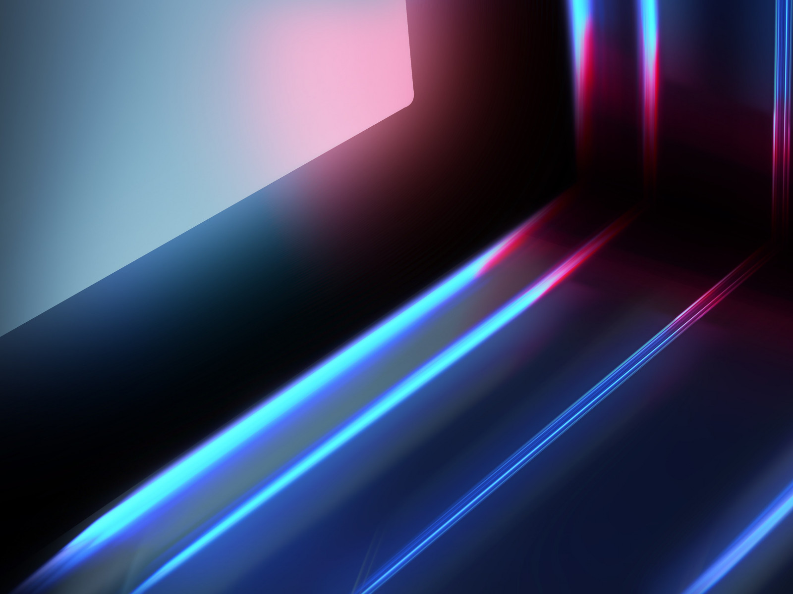 Abstract blue red lights wallpaper 1600x1200