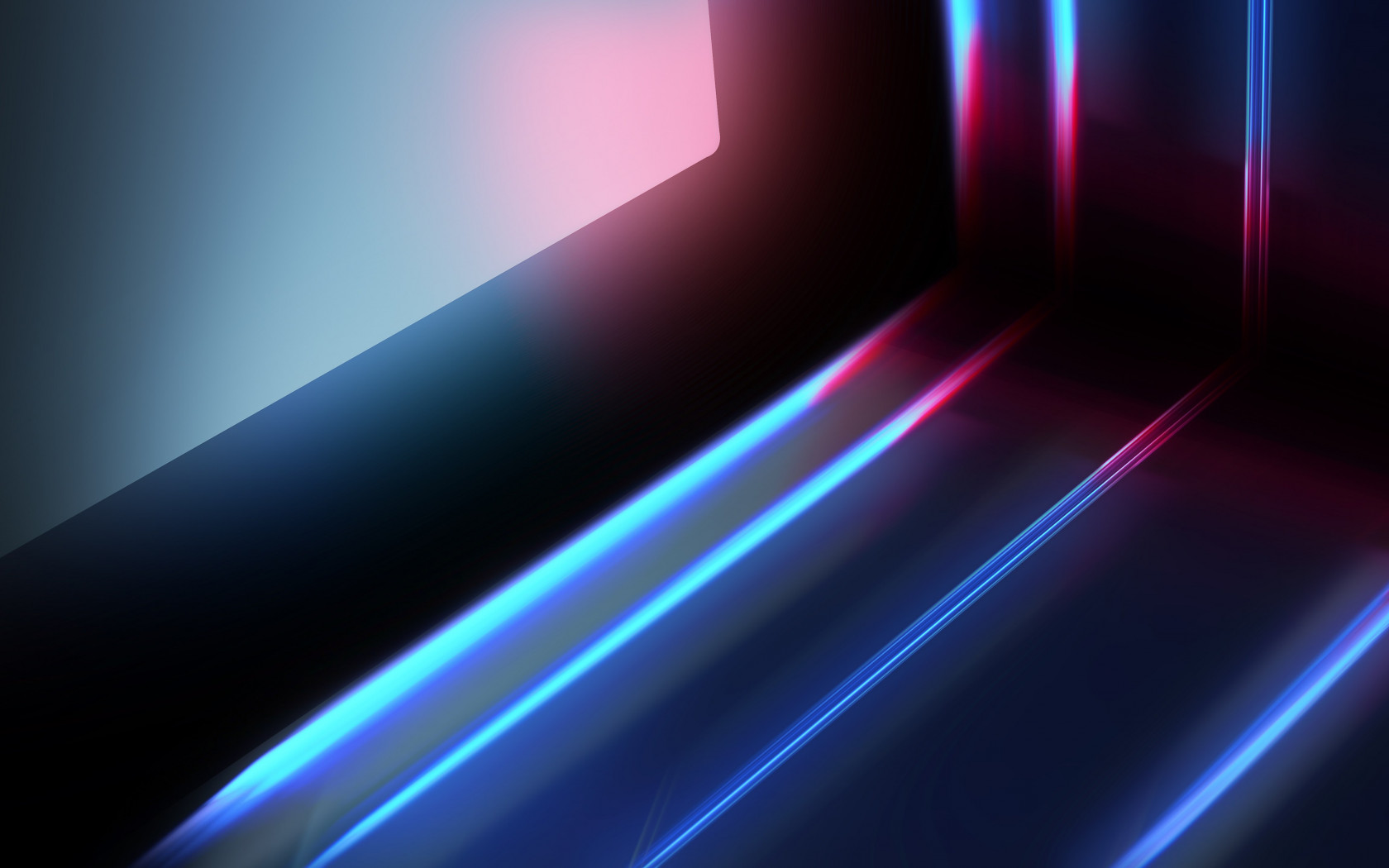 Abstract blue red lights wallpaper 1680x1050