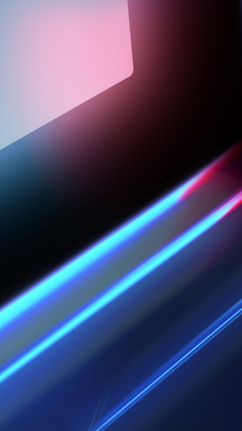Abstract blue red lights wallpaper 480x854