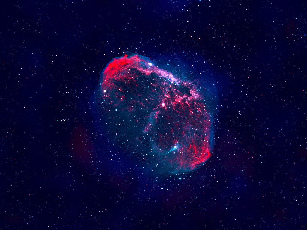 The Crescent nebula wallpaper 1024x768