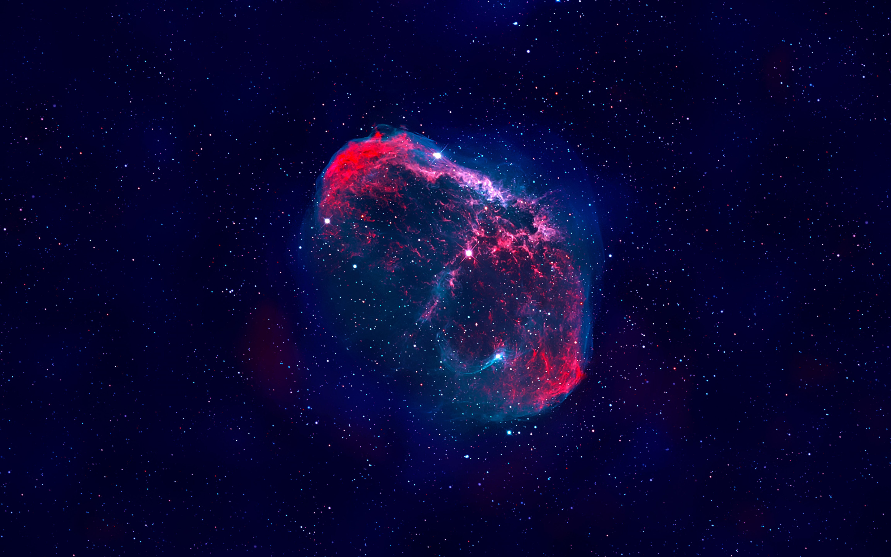 The Crescent nebula wallpaper 2880x1800