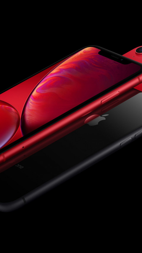 iPhone XR red wallpaper 480x854