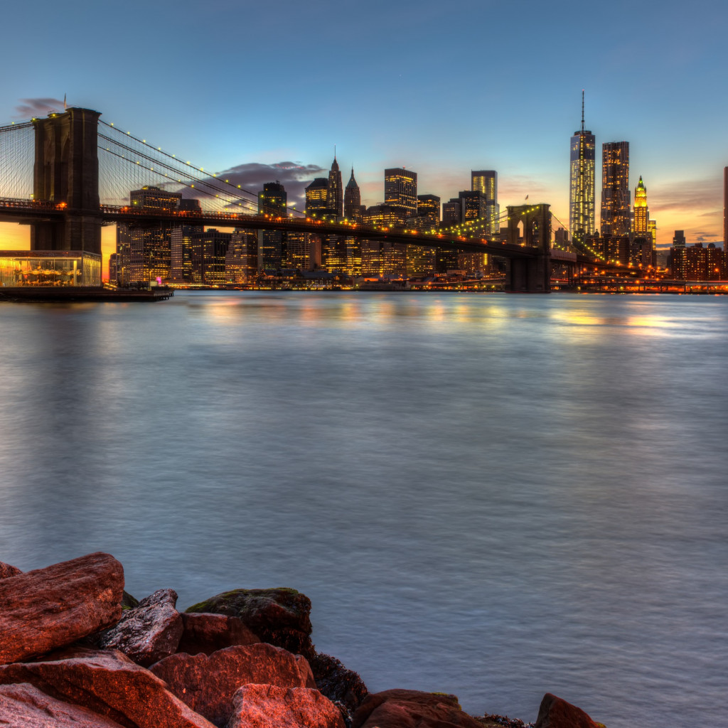 Brooklyn Bridge, NY, USA wallpaper 1024x1024