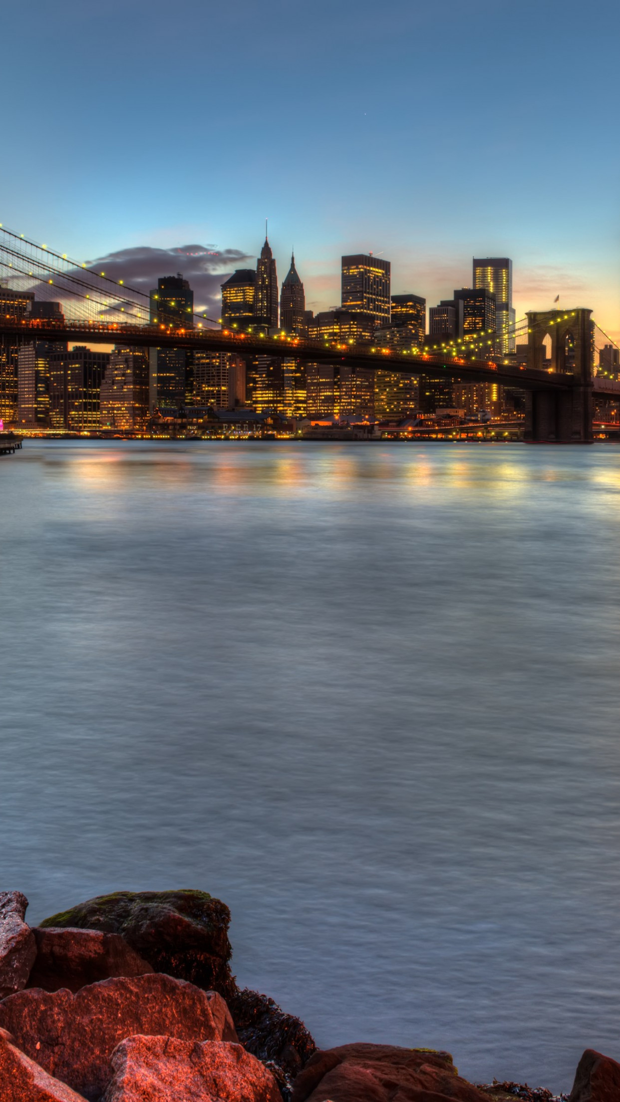 Brooklyn Bridge, NY, USA wallpaper 1242x2208