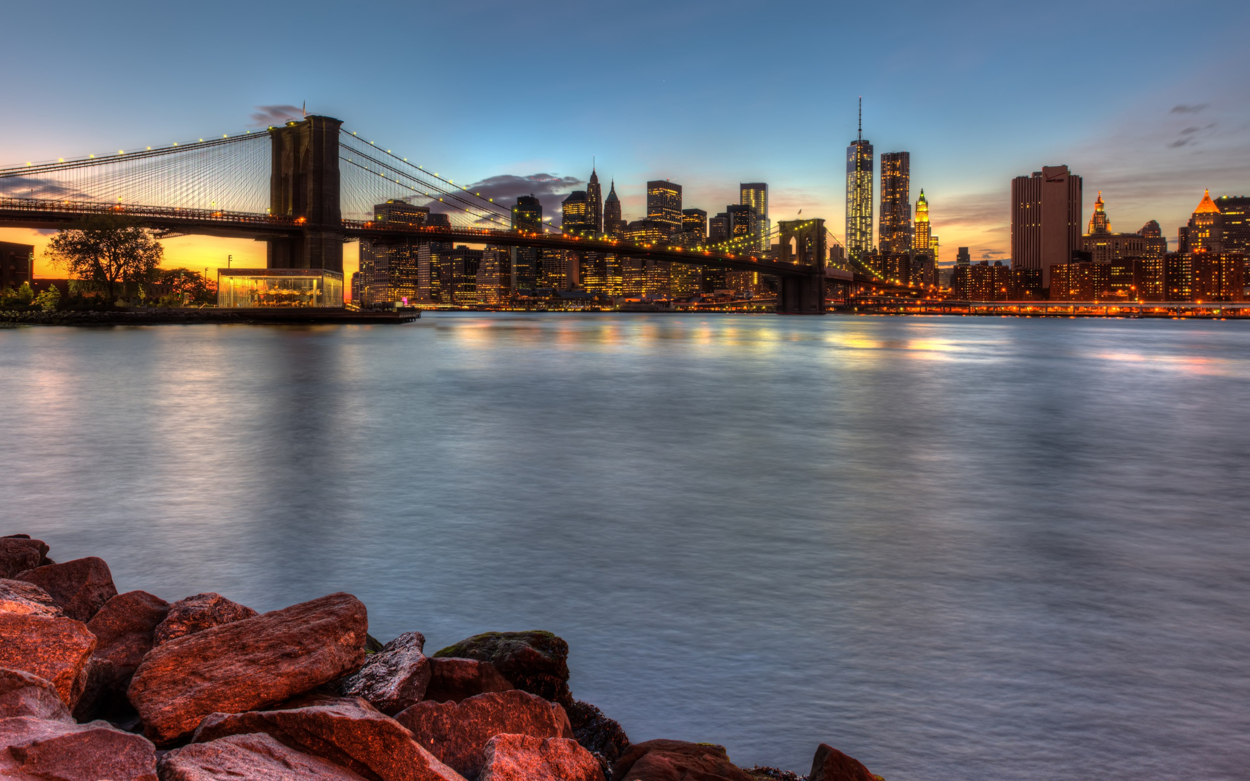 Brooklyn Bridge, NY, USA wallpaper 2560x1600