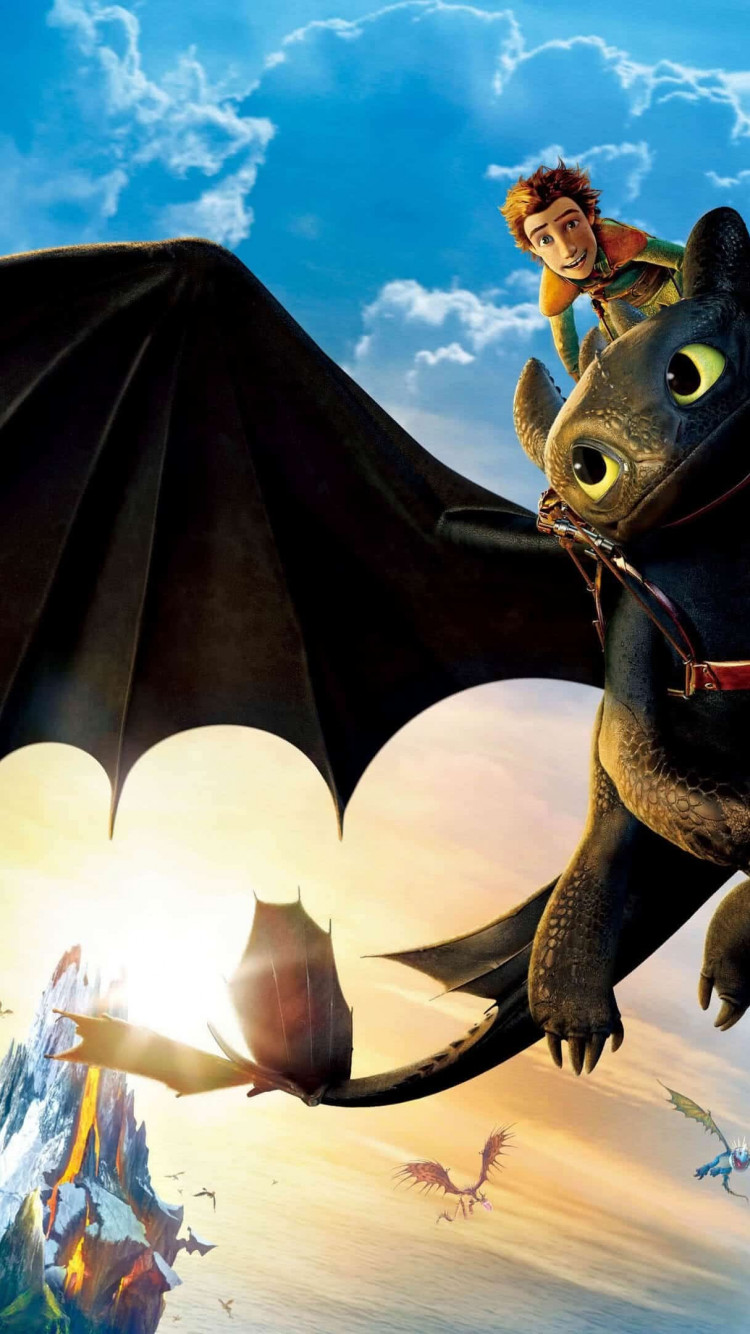 How to Train Your Dragon: The Hidden World wallpaper 750x1334