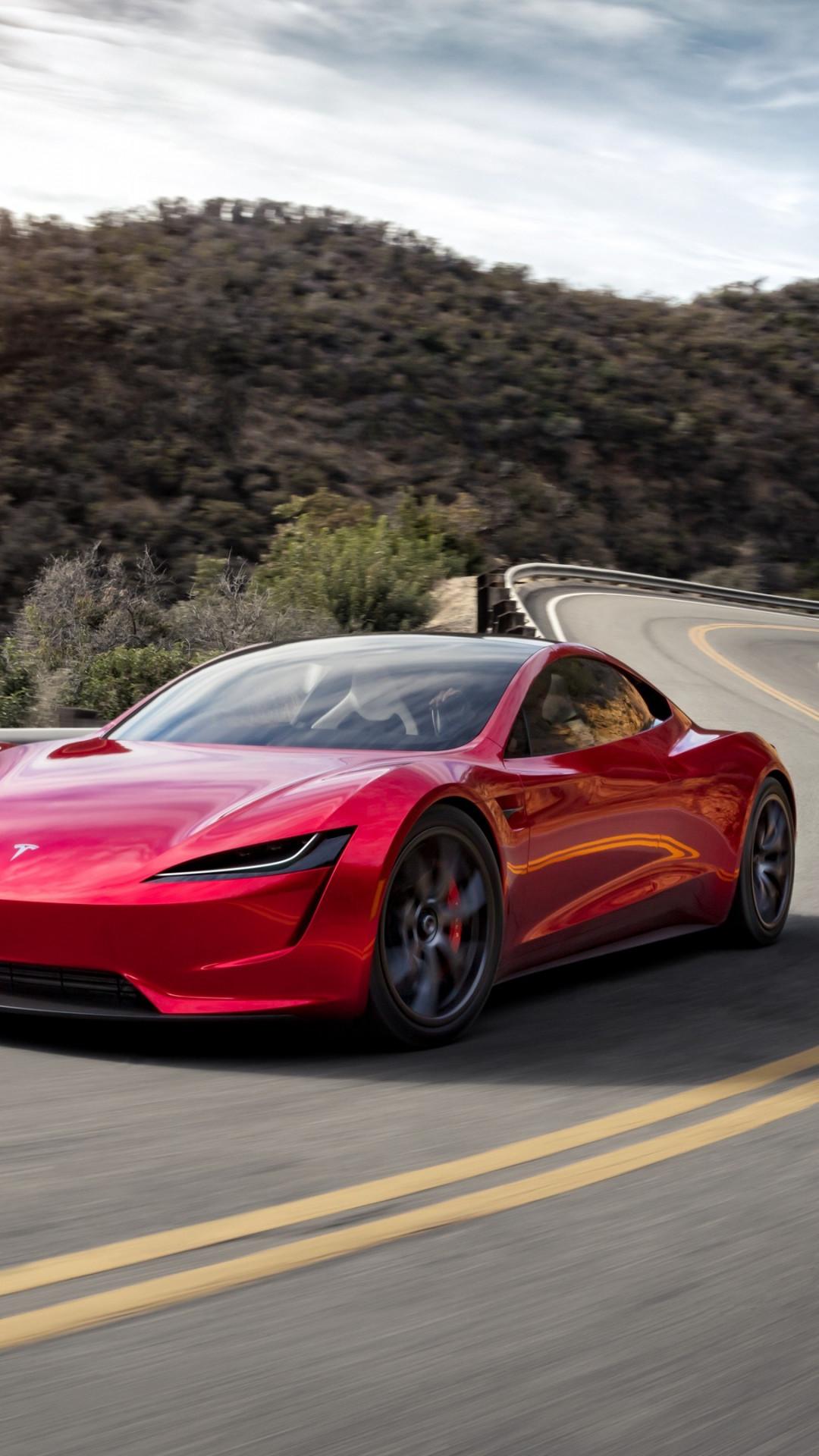Download Wallpaper Tesla Roadster 1080x1920