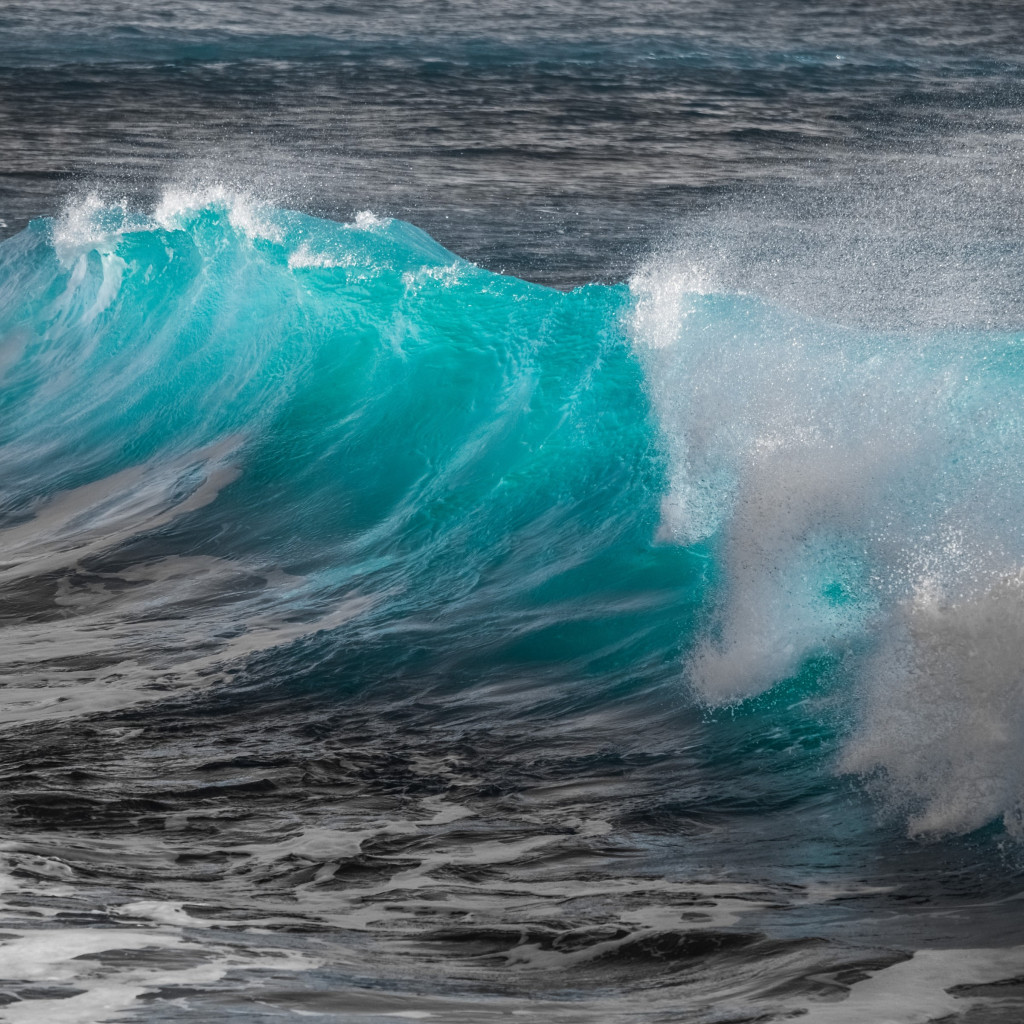 Turquoise sea wave wallpaper 1024x1024