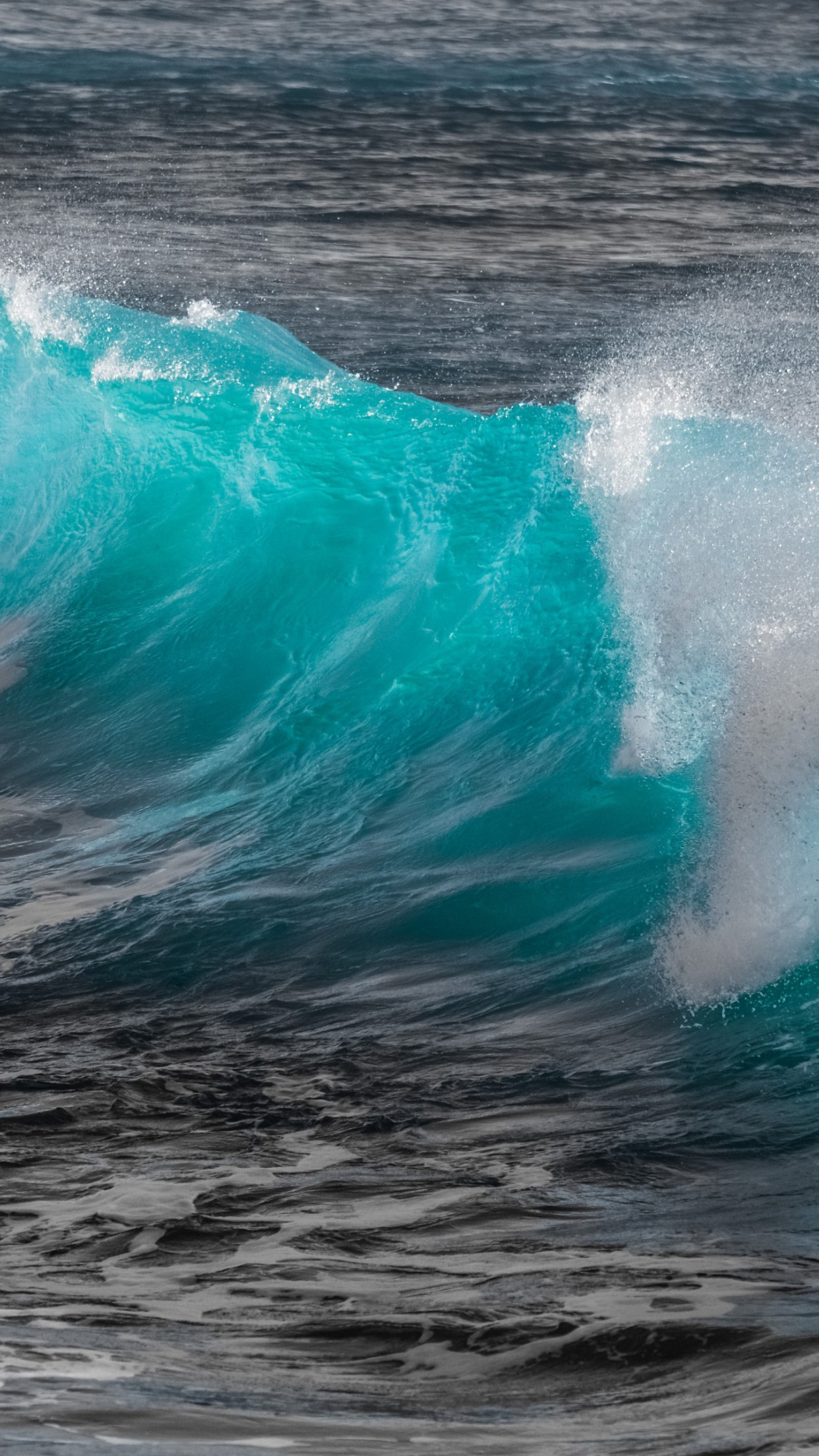 Turquoise sea wave wallpaper 1242x2208