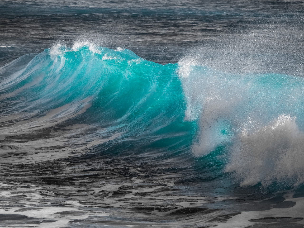 Turquoise sea wave wallpaper 1280x960