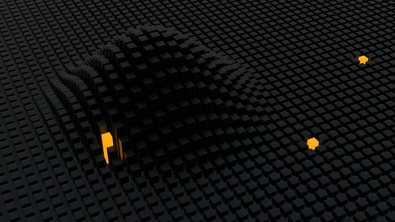Wave in 3D cubes wallpaper 1280x720